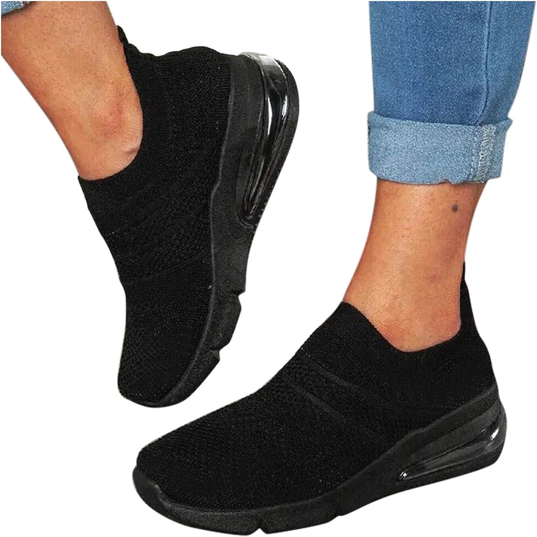 Niceast Women's Sneakers Casual Walking Shoes Breathable Mesh Soft Lightweight Tennis Sneakers Slip On Work Nursing Shoes