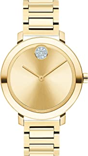 Women's Bold Evolution Swiss Quartz Watch with Stainless Steel Strap, Yellow Gold, 15 (Model: 3600649)
