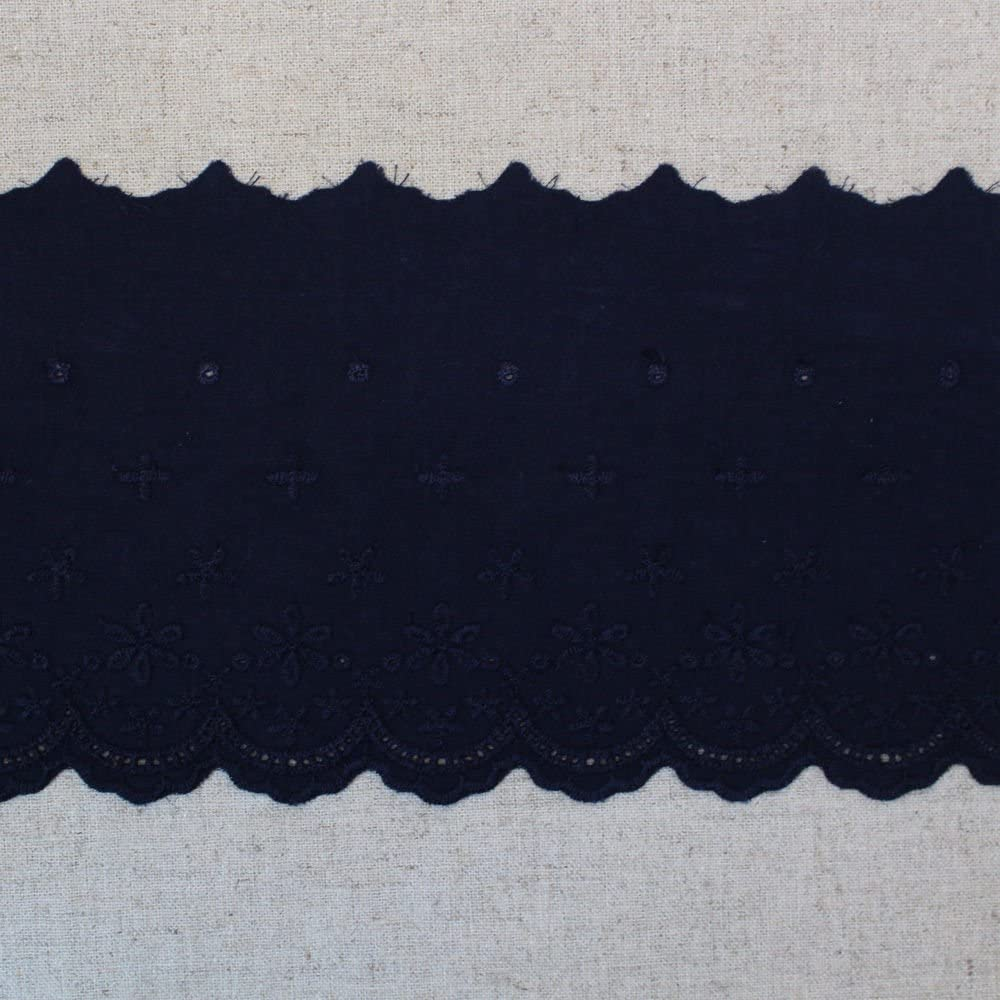 1yard Raleigh Mall Broderie Anglaise Cotton Eyelet YH1162 Trim N Max 76% OFF 11.5cm lace