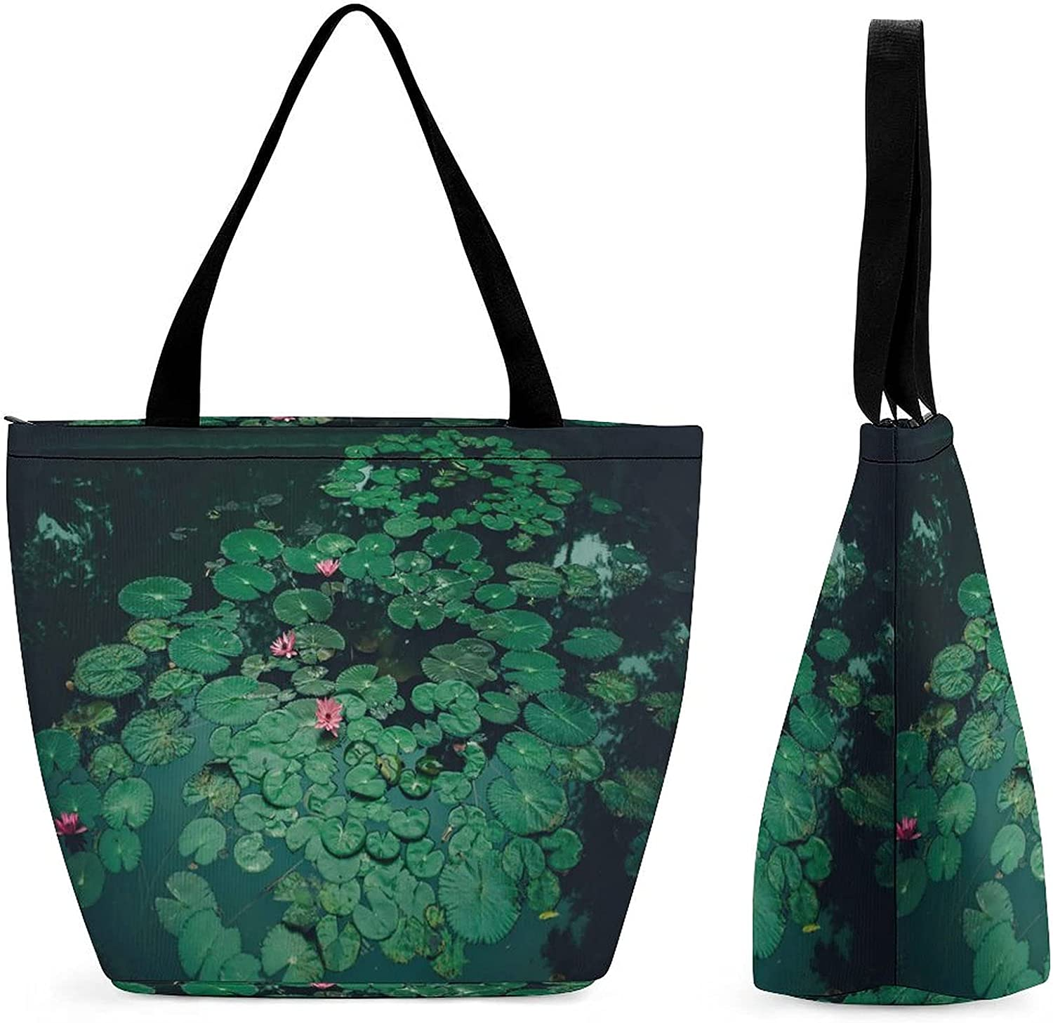 Limited time sale YANFIND Shopping Bag for Ladies Aquatic Bl Plant Ranking TOP10 Beautiful Bloom
