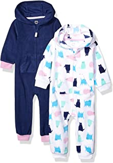 Girls' Infant 2-Pack Microfleece Hooded Coverall