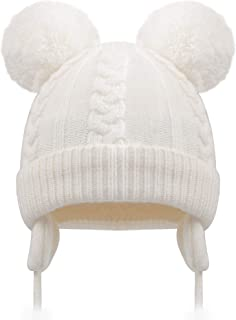 white baby hat with ears