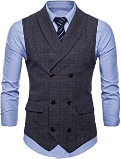 Men's Vest Tuxedo Waistcoat Party Slim Fit Wedding Modern Casual Blazer Men's Suit Casual Suit Vest Vest V-Neck