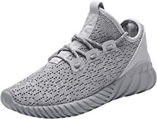 Hetohec Sport Baseball Shoes Knitted Fashion Outdoor Sneakers Lightweight Gym Athletic Shoe for Men Trail Workout