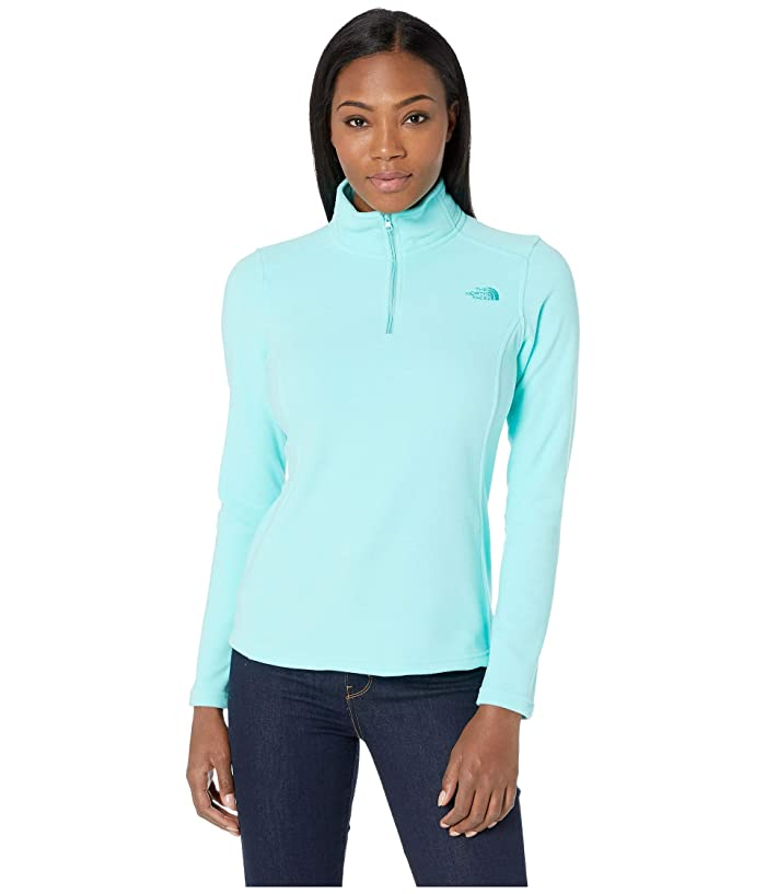 The North Face Glacier 1/4 Zip Fleece Top (Mint Blue/Ion Blue) Women