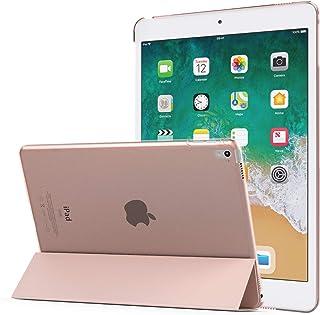 MoKo Funda para 2018/2017 iPad 9.7 6th/5th Generation - Ultra Slim Función de Soporte Protectora Plegable Smart Cover - Oro Rosa (Auto Sueño/Estela)