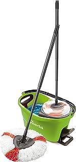 Vileda Turbo EasyWring & Clean Kit de Nettoyage Complet avec Seau équipé d'Un système d'essorage et Balai à Franges Turbo ...