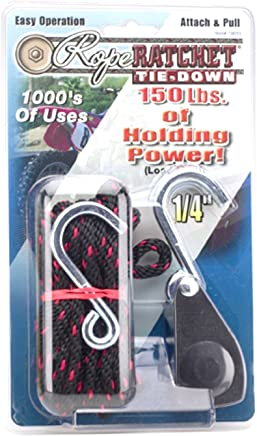 """Rope Ratchet 10015, Rope Hanger Rope Puller, 1/4"""" with 15' Solid Braided Polypropylene Rope & 150 lbs Weight Capacity"""