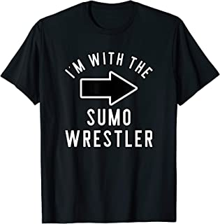 Couples Halloween Costume Shirts I'm With The Sumo Wrestler T-Shirt
