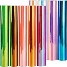 New Version Holographic Opal Vinyl Sheets, Ohuhu 11 Permanent Adhesive Backed Vinyl Sheets Set, 9 Metallic Vinyl Sheets 12...