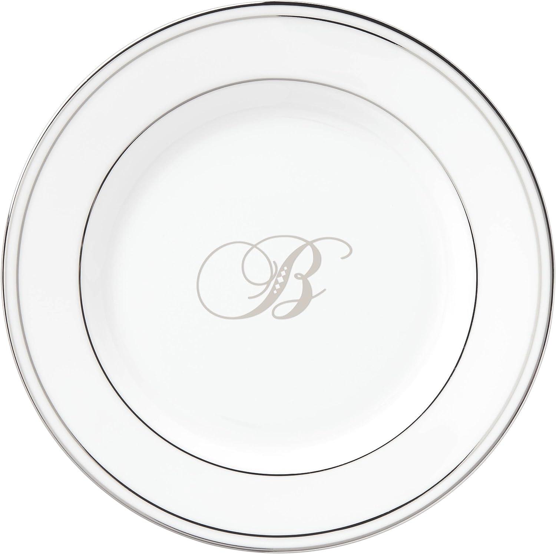 New product OFFicial site Lenox Federal Platinum Script Monogram Butter Dinnerware P Bread