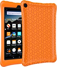 AVAWO Silicone Case for Fire 8 Tablet (7th/8th Generation, 2017/2018 Release) - Anti Slip Shockproof Light Weight Protective Cover [Kids Friendly], Orange