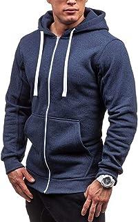 QIANSHION Giacca di Felpa Uomo Sportivo con Cappuccio con Zip Cappotto Uomo Outwear Caldo Jacket Giacche Sportive Felpa