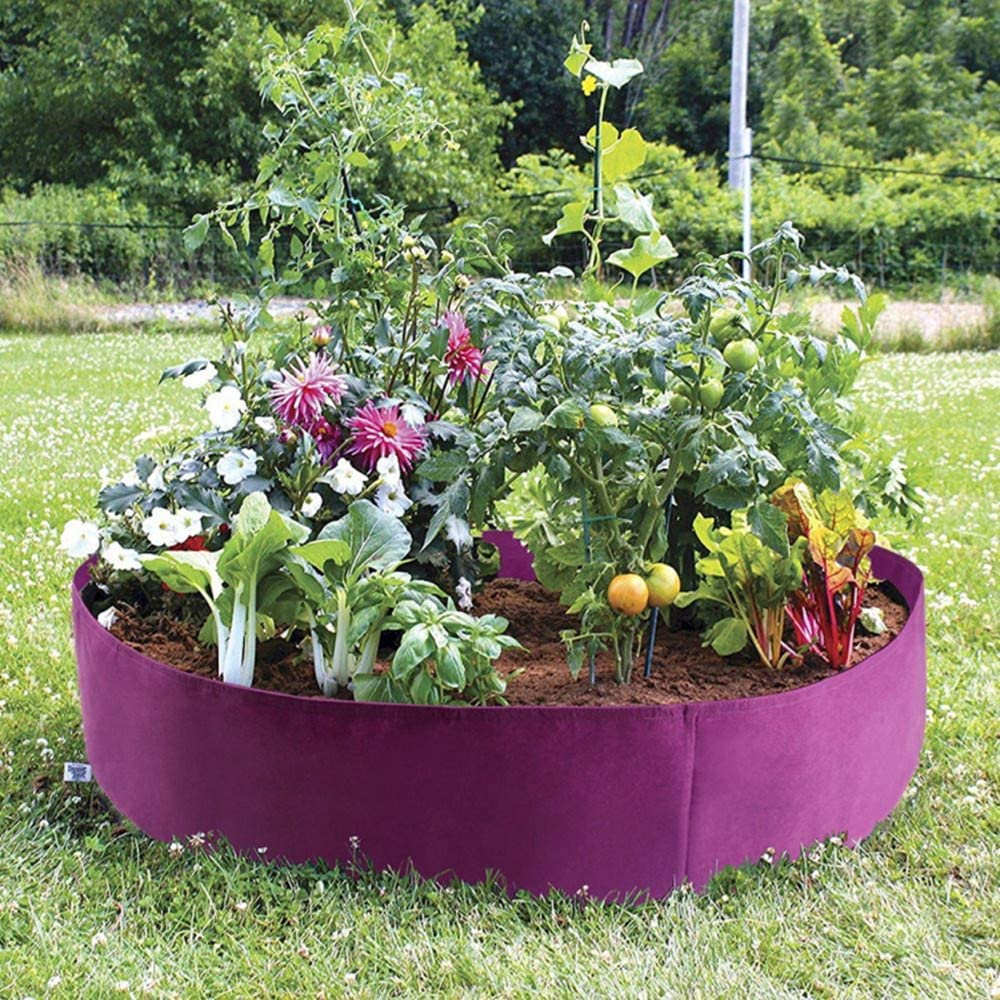 Tomates y Fresas Macetas de Tela Grow Bolsa 70x30cm PUTOWUT Bolsa para Plantas para Papas Tela de Fieltro /& Transpirables /& Degradables