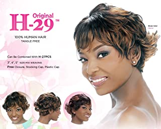 Harlem 125 Human Hair 29 Pcs Weaving Hair (1B (Off Black))