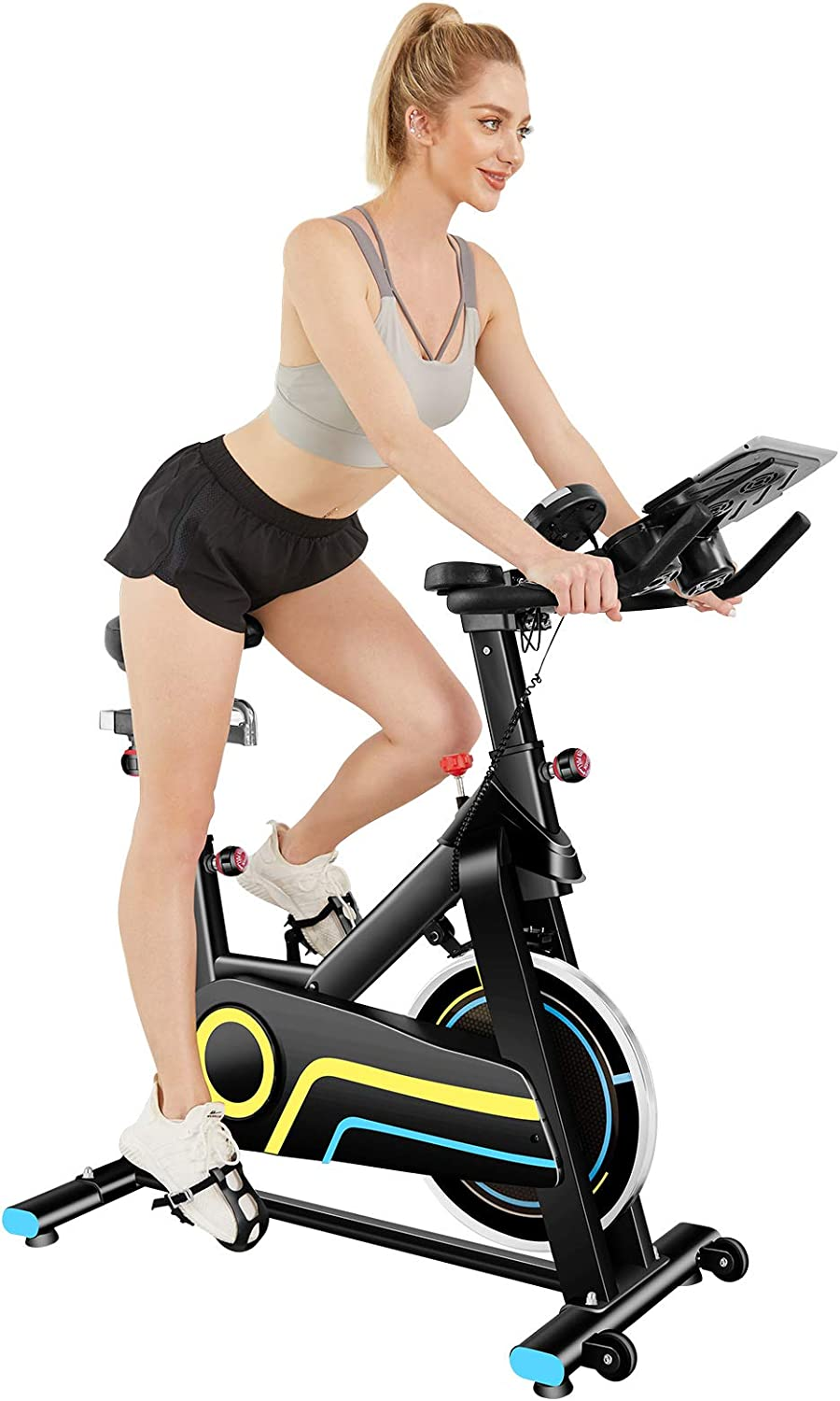 ANCHEER Indoor Exercise Bike Stationary 5% OFF 49Lbs shop Cycling with