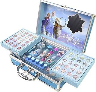 Disney- Frozen II Princess Makeup Traincase, Color Azul,