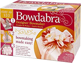 """Darice Bowdabra Bow Maker and Craft Tool, BOW1003, Plastic, Gray, 6"""" x 8"""""""