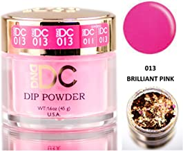 DND DC Pinks DIP POWDER for Nails 1.6oz, 45g, Daisy Dipping (with bonus side Glitter) Made in USA (Brilliant Pink (013))