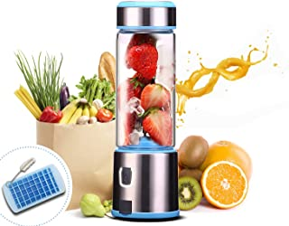 Smoothie Blender, Personal Mixer Fruit Rechargeable with USB, Mini Blender for Smoothie, Fruit Juice, Milk Shakes, 380ml, ...