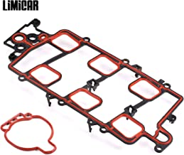 LIMICAR Upper Intake Manifold Gasket Kit w/Seal & Pipe 89017554 Compatible w/ 96-05 LeSabre Park Avenue Pontiac Bonneville 00-05 Chevrolet Impala 98-05 Monte Carlo 96-04 Regal 97-03 Grand Prix