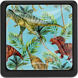 Special Drawer Knobs Cabinet Cupboard Chest Dresser Tropical Forest Dinosaur Pull
