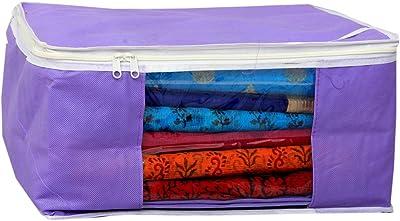 Kuber Industries™ Non Woven Saree Cover Bag Set of 3 Pcs/Wardrobe Organiser/Regular Clothes Bag PU-19161