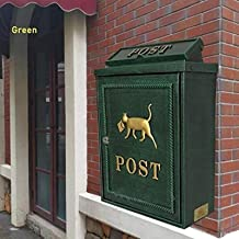 brievenbus Villa brievenbus in Europese stijl, waterdichte buitenpostbus, postbus aan de muur 11,3x5x16in brievenbus (kleu...