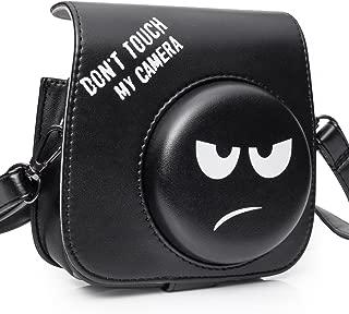 CAIUL Compatible Mini 8 Groovy Emoji Camera Case Bag for Fujifilm Instax Mini 8 8+ 9 Camera - Black, Don't Touch My Camera