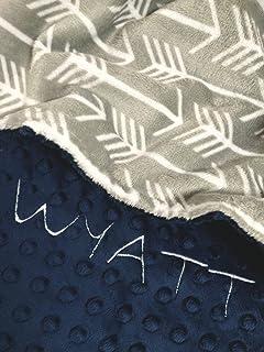 Personalized Baby Blanket, Gray Arrow baby blanket, Archer Minky Baby Blanket,Newborn Girl or Newborn Boy, Baby Shower Gift, Newborn Gift