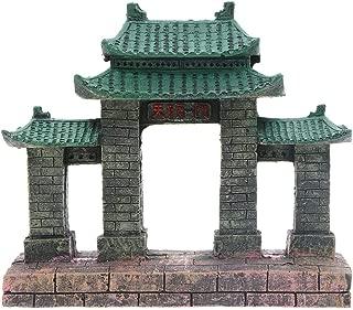 Saim Aquarium Resin Ancient Temple Ruins Ornament Fish Tank Decoration