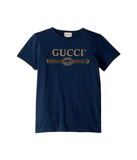 Gucci Kids Web Print T-Shirt (Little Kids/Big Kids)