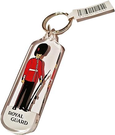 Royal Guard Plastic Keyring London UK Keychain Souvenir! Souvenir/Speicher/Memoria! A Cool, Lovely, London, England British UK Collectible Key Ring at Dramatically Discounted Prices! A Memorable London Souvenir! Porte-Clés/Schlüsselanhänger/Portachiavi/Llavero! S01