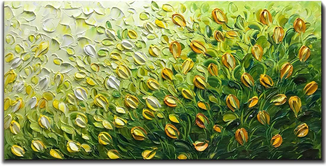 Tiancheng Art Time sale 24x48 inch Contemporary Tulip Paint Max 60% OFF Flower Artwork