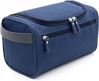Hipiwe Hanging Travel Toiletry Bag Travel Size Waterproof Shaving Grooming Dopp Kit with Hanging Hook for Business Vacation (Dark Blue)