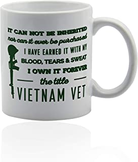 Vietnam Veteran Gifts 11 oz. white ceramic cup.