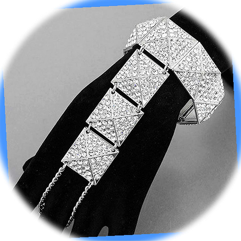 New Rhodium Silver Tone Color Nashville-Davidson Mall Stretchable Bracelet Urban Style Max 46% OFF a