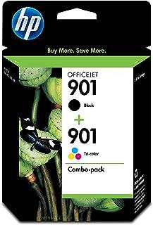HP 901 | 2 Ink Cartridges | Black, Tri-Color | CC653AN, CC656AN
