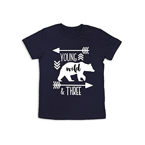 Young Wild And Three Shirt 3rd Birthday Years Old