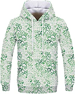 Alalaso Couple Wear Sweatshirts 3D Colorful Print Pullover Hoodie Pattern Hooded Sweatshirts Pockets for Teens Jumpers