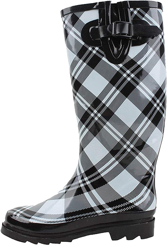 G4U-RB womens Rain Boots; Mid Calf; Wellies; Snow
