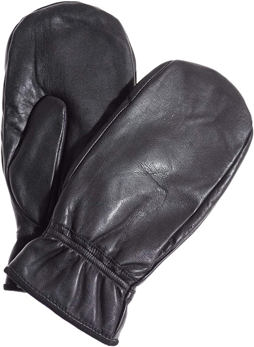 Alps Women's Leather Mittens with Hi-Loft Sherpa (Polyester) Lining by Pratt and Hart RS6976