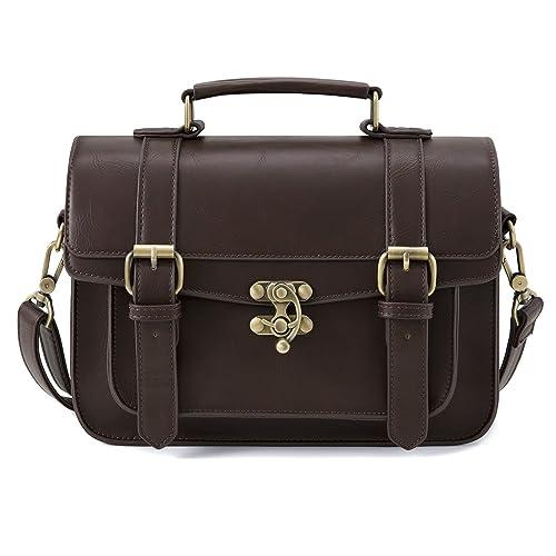 ECOSUSI Designer Women Vintage Messenger Bag Satchel Purse