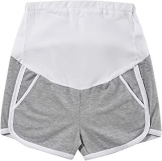 Maternity Shorts Summer Cotton Lounge Shorts Full Panel Short Pants