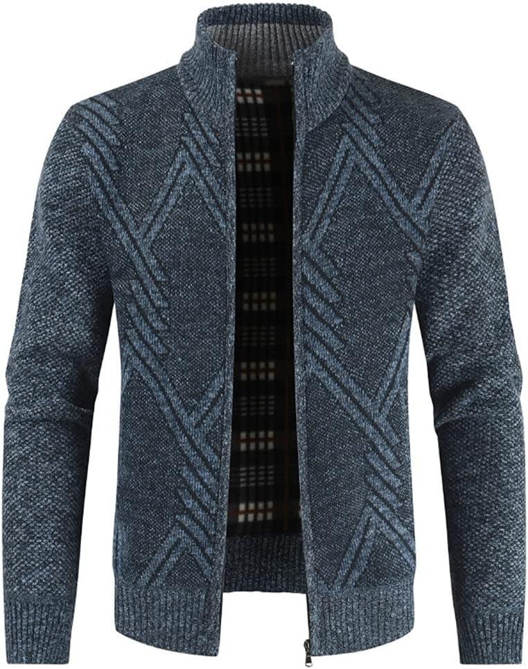 GPPZM Autumn Winter Jacket Men Coats Solid Slim Fit Thick Fleece Coats Men Jacket (Color : A, Size : 4XL)