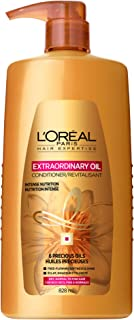 L'Oreal Paris Elvive Extraordinary Oil Nourishing Conditioner, for Dry or Dull Hair, Conditioner with Camellia Flower Oils, for Intense Hydration, Shine, and Silkiness, 28 Fl. Oz