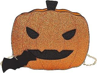 BRISEZZ Halloween Kürbis Tasche Mode Kette Schulter Umhängetasche Damen Handtasche Schön Kettentasche Schultertaschen Frei...