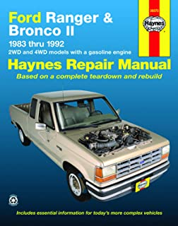 Ford Ranger & Bronco II 2WD & 4WD Gas Models (83-92) Haynes Repair Manual (Does not include information specific to diesel engines. Includes vehicle ... exclusion noted) (Haynes Repair Manuals)