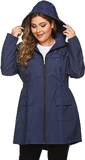 Plus Size Raincoats Long Rain Jacket Lightweight Hooded Waterproof Outdoor Windbreaker