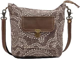 Indigo Upcycled Canvas & Leather Shoulder Bag S-1451